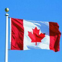 现货小额批发90*150cm 加拿大Canada 国旗 4号涤纶色丁旗帜现货