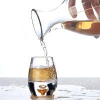 白酒杯玻璃厚底酒具套装金箔白酒具茅台小酒杯烈酒杯礼盒logo定制