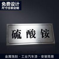 不锈钢金属标牌 办公室门牌高档标识厂家定制 蚀刻不锈钢牌定做