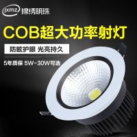 led射灯嵌入式天花灯 COB射灯聚光5w10w20w30w瓦牛眼灯大功率简灯