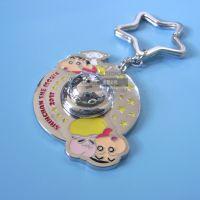 供应卡通金属钥匙扣 合金烤漆滴胶箱包挂件 五角星钥匙圈