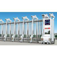 供应珠海厂房不锈钢伸缩门 交通岗亭 停车场智能道闸安装