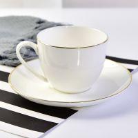 唐山浩新瓷业厂家批发陶瓷咖啡杯 骨质瓷釉上彩杯碟 欧式礼品咖啡具套装 可加logo