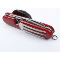 多功能不锈钢折叠刀 带汤匙 叉子 分体式 随身工具 野营用品