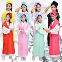 新款儿童古装汉服幼儿男女书童弟子规表演服中小学生三字经国学服