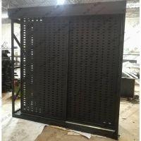 瓷砖冲孔板加工-山东瓷砖洞洞板展示架-冲孔板瓷砖展架厂家