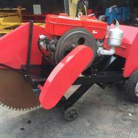 东硕机械大功率混凝土路面刻纹机SY-500C手推式柴油切割机