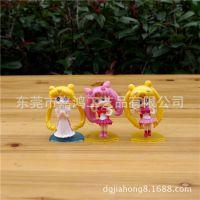 来图来样订做Q版月野兔 美少女战士玩具模型摆件 日本3D立体公仔