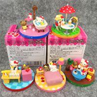 日本卡通~凯蒂猫 场景版愉快一天 全5款娃娃机彩色盒装摆件公仔