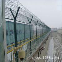 高强度护栏网 防爬防盗网 部队训练刀刺网Y形柱防护网监狱围栏网