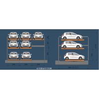 简易停车库供应 平面移动式车库 两层式立体车库