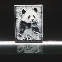 供应动物园纪念礼品定制,游客水晶内雕摆饰定做,动物水晶相册,免费刻字