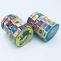 圆柱型塑料魔方儿童数字魔方益智玩具圆柱魔方 热销地摊货源批发