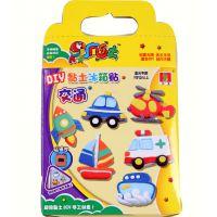 疯乐土超轻粘土交通冰箱贴6只装9色益智儿童无毒彩泥玩具带说明