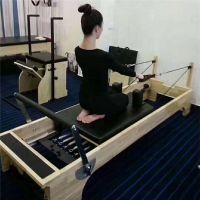 厂家热销普拉提器械实木木头平床脚踏板私教健身房瑜伽床普拉提床