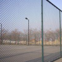 体育场球场围网安装 铁丝勾花网 绿色浸塑围栏网