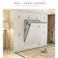 定制多功能简约折叠单双人隐形壁床组合 板式收纳隐藏床组合柜翻转床