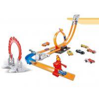 风火轮轨道火辣合金赛车回旋跳跃汽车赛道儿童玩具组合套装