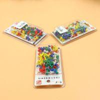 厂家直销创易盒装彩实色工字钉 水松图订彩色工字钉绘画图钉