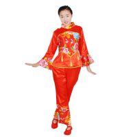 厂家直销 秧歌服演出服 麻丁料秧歌服 表演服 舞蹈服 低价促销