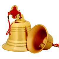 聚缘阁风水纯铜风铃铜铃铛挂件车铃纯铜铃铛大铜钟寺庙家居饰品