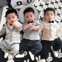 两个月宝宝衣服夏款连体衣男0-1岁婴儿春装新生儿男孩套装3春秋薄