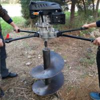 手推移动式打眼机 纯汽油挖坑机哪里有厂家 小型手推汽油植树挖坑机