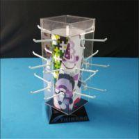 生产销售压克力展示架 卡扣展台 有机玻璃四面旋转饰品首饰展示