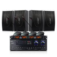 会议室音响套装 功放AV108+音箱BX118培训教室背景音乐话筒设备