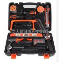 13件五金工具组套 电工木工维修组合工具水平尺螺丝刀维修套装