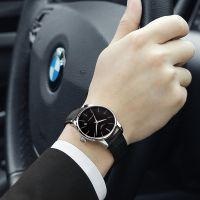 冠琴正品瑞士镂空机械表 商务防水简约男款手表 男士手表 高档