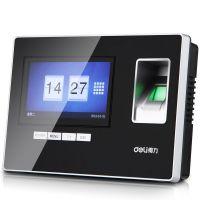 得力智能免软件指纹考勤机 超大触屏办公考勤机