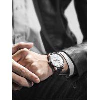 男表防水自动机械表真皮带男士日历休闲手表学生表礼物腕表