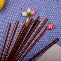 越南小叶紫檀红木实木原木质筷子无漆无蜡家用10双装家庭装