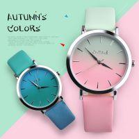 欧美流行热卖OKTIME学生手表时尚休闲超薄渐变色防水男女情侣手表