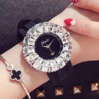 外贸速卖通bingbing时尚大表盘女表水钻硅胶带手表批发装饰时装表
