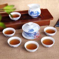 青花瓷礼品茶具 景德镇手绘青花瓷茶具礼品