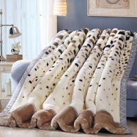 厂家直销毛毯加厚双层冬季拉舍尔盖毯单双人婚庆大红毯子批发团购