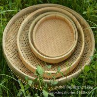 口碑好销量高批发绿色环竹编健康实用竹制品58cm 有孔竹筛竹簸箕