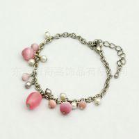 【厂家热销】韩版时尚饰品 青岛链穿珠子手链  女款
