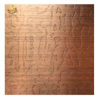 佛山金一帆彩色手工交叉拉丝装饰板 红古铜不锈钢板定制 电镀做旧发黑板
