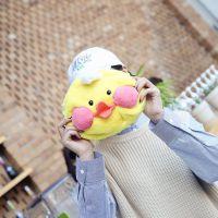 厂家直销网供玻尿酸小黄鸭ins鸭子毛绒单肩包软妹可爱卡通斜挎包