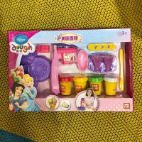 壹佰分新款迪士公主美味雪糕机彩泥玩具儿童生日礼物动手能力玩具