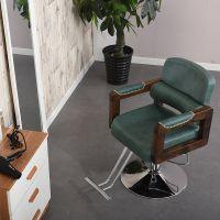 欧式实木扶手美发椅子 理发椅 发廊专用 升降椅 新款理容剪发椅子