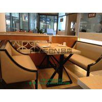 漫咖啡桌椅组合 老榆木餐桌餐椅实木火锅桌圆桌仿古餐厅快餐桌椅 美式乡村
