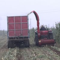 干鲜玉米秸秆收割粉碎收集机 干草粉碎还田机