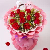 11朵红玫瑰成都鲜花速递天津济南西安送花北京鲜花长沙花店沈阳