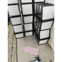 供应塑料框V型高效过滤器 大风量V型过滤器 厢式亚高效过铝器