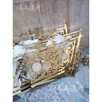 杭州新款铝板雕刻扶手 溢升