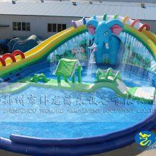 移动水上乐园造型丰富的充气水滑梯 大象乐园的价格 郑州卧龙厂家直销